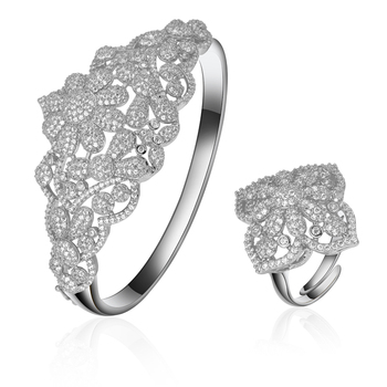 24k Gold Ring Saudi Arabia Jewelry Set Of Three Bangles