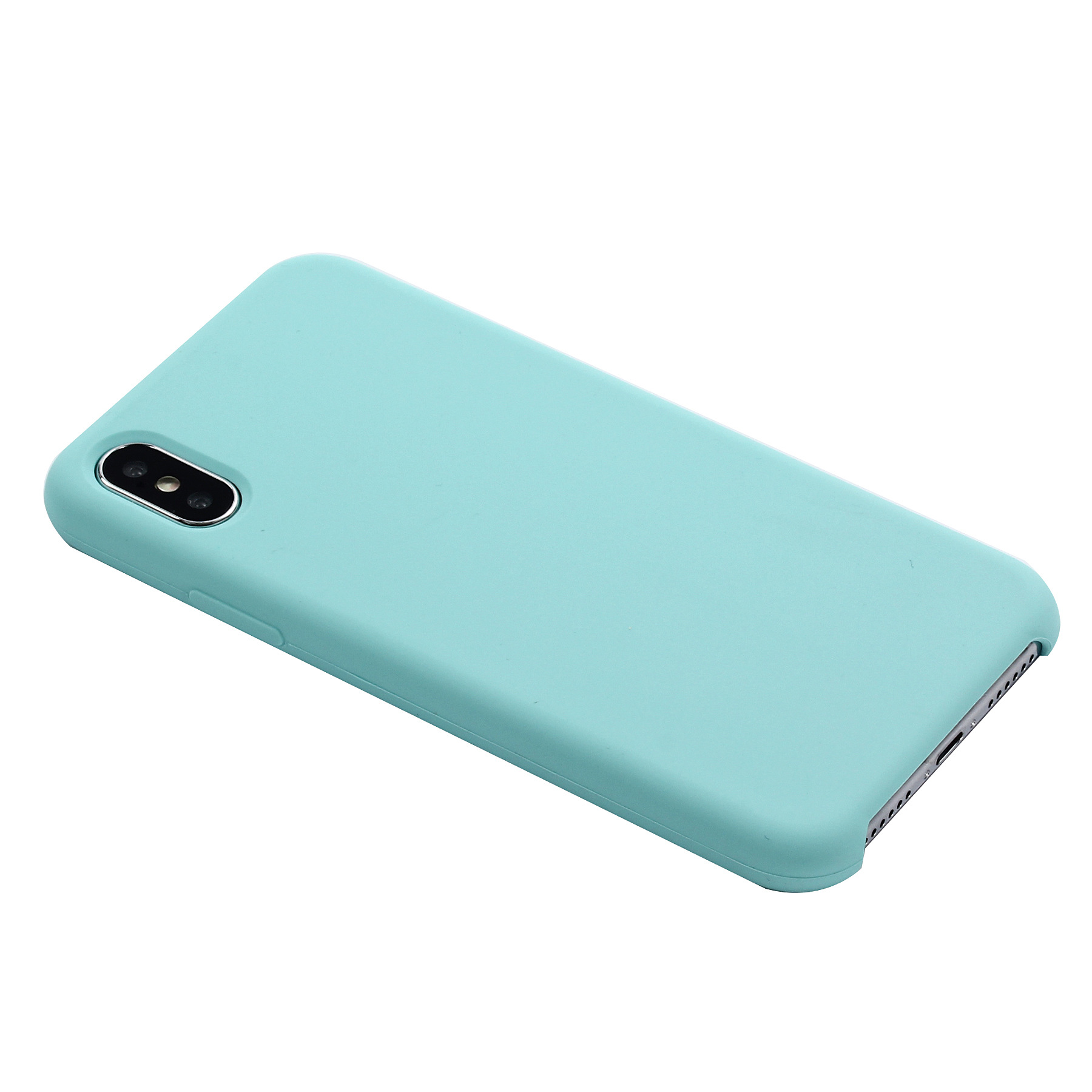 Luxo original microfibra silicone líquido silicone gel phone case para iphone 6 7 8 plus com logotipo