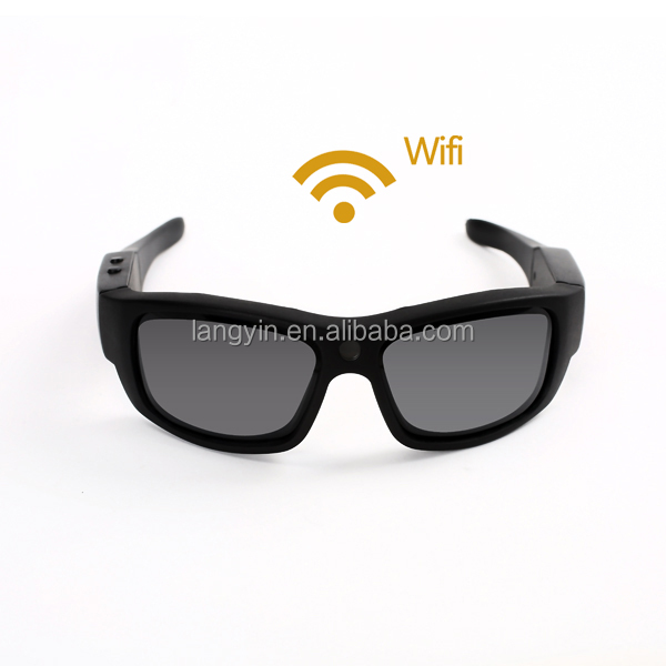 30fps HD wireless wifi sunglasses hidden digital camera support shouting picture