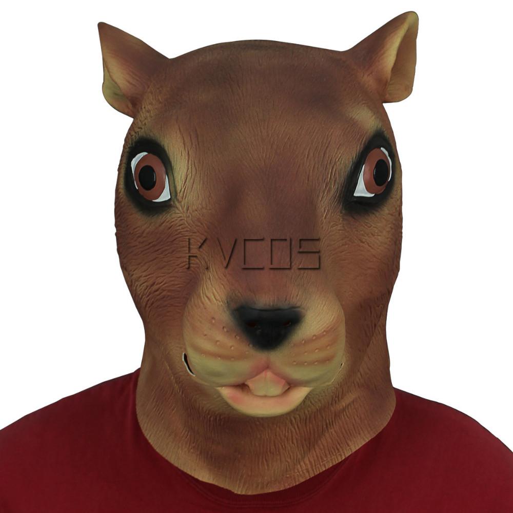 neue Version begehrte Auswahl an größte Auswahl Großhandels-Vollkopf-Eichhörnchen-Masken-Latex-Tier-Halloween-Cosplay-Partei-Kostüm-Tierkostüm-Stütze  spielt Partei-freies Verschiffen