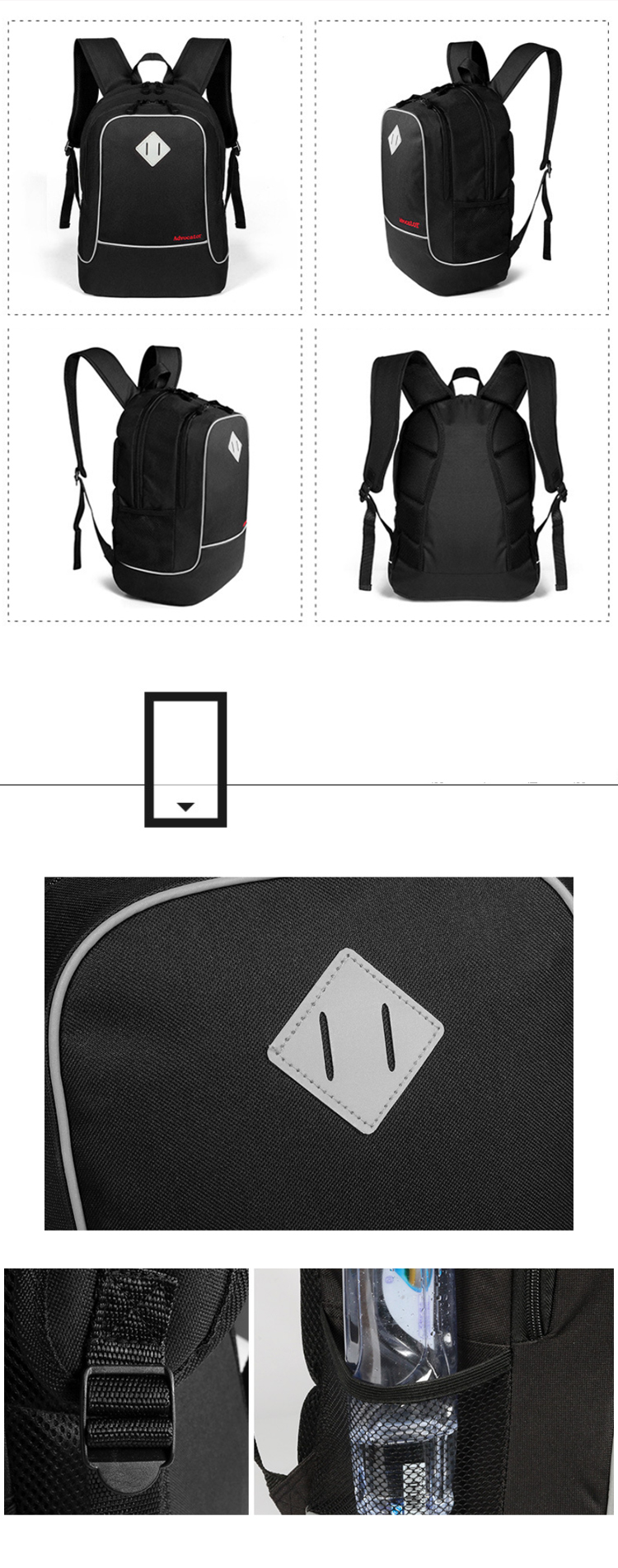 Osgoodway 600D Polyester Quality Backpack for Laptop China OEM Sports Fashion School Backpack Bags