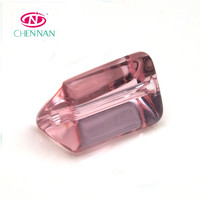 Pujiang Yiwu Top Quality Glass Beads new design triangle cylinder shape smooth crystal glass beads