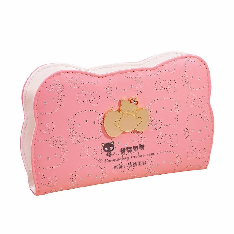 Get Quotations · 0 New Hello kitty cute hollow wallet women wallet in Korea 561aeda83ac18