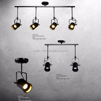 Bar Coffee Shops Adjustable Heads Pendant Light, Stores Decoration Modern Black Hanging Ceiling Lamp