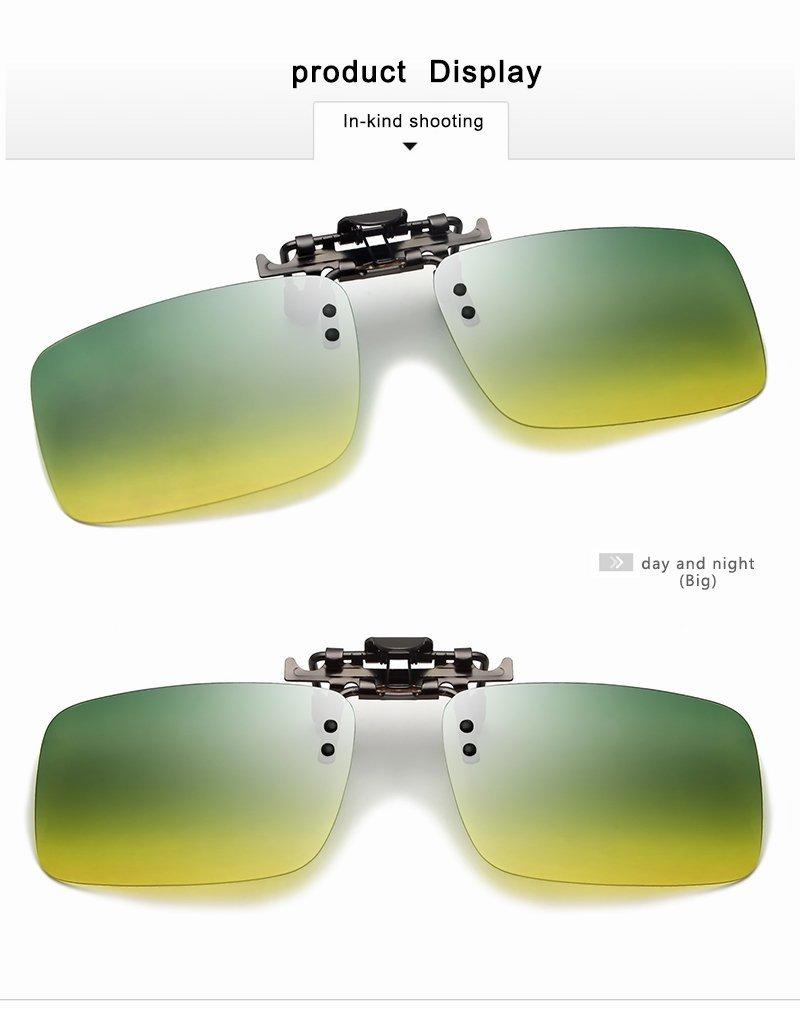 ca255fecb3 Get Quotations · XZP Men Polarized Day And Night Driving TAC Sun Glasses  Eyeglasses Clip On Myopia Glasses Night
