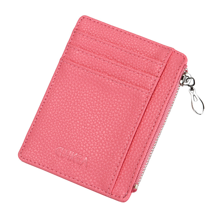 China Yiwu Manufacture Wholesale Leather Slim Wallet for Women RFID blocking card holder Small Wallet Leather Purse cash holder