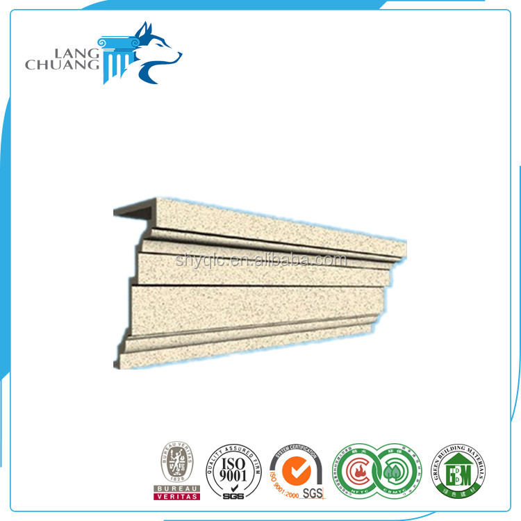Glassfiber Reinforced Cement Cornice Moulding GRC Decor Design