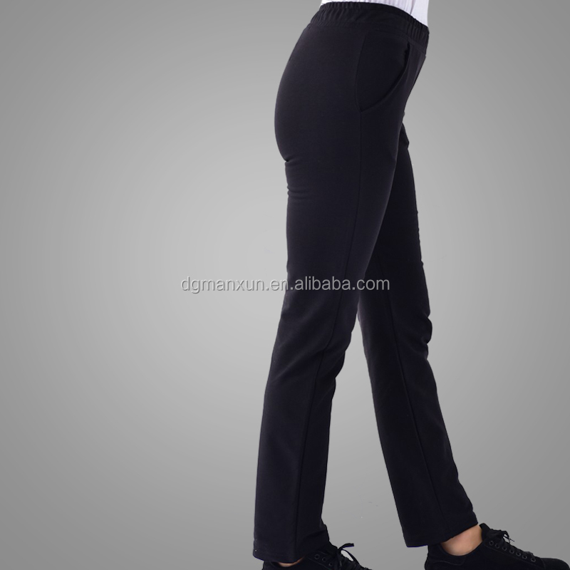 New Type Factory Direct Selling Muslim Top With Pant Simple Black Islamic Clothing High Quality Cotton Suit