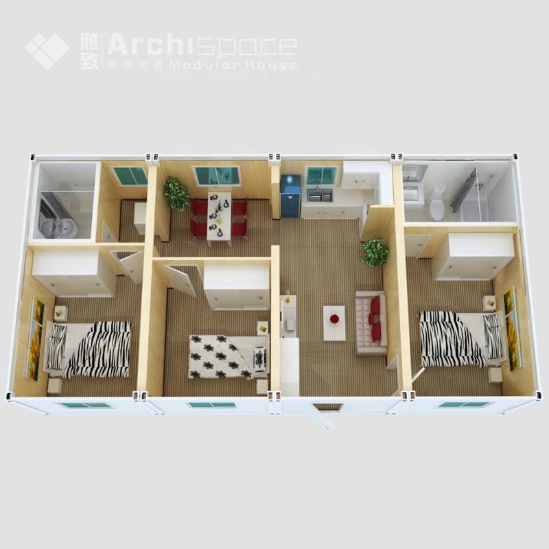 3 Schlafzimmer Haus Grundrisse Mit Fertighaus - Buy 3 Schlafzimmer Haus  Grundrisse,Industrie Baupläne,Hohe Qualität Product on Alibaba.com