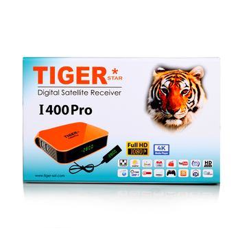 Tiger Star New I400 PRO Sunplus 1507A digital satellite receiver support one year top ten ,one year kids movie and iptv box