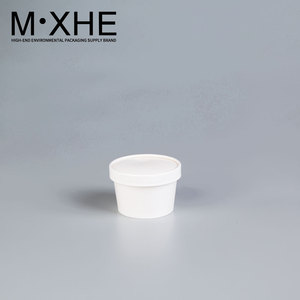 Kraft small box disposable high - grade round thick white kraft paper soup bowl sealed leakproof insulation