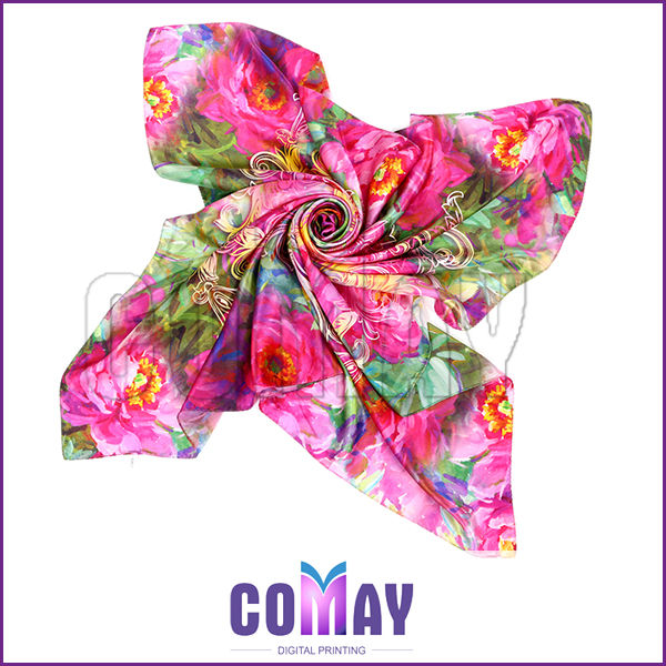 Wholesale Fashion Colorful fake silk scarf