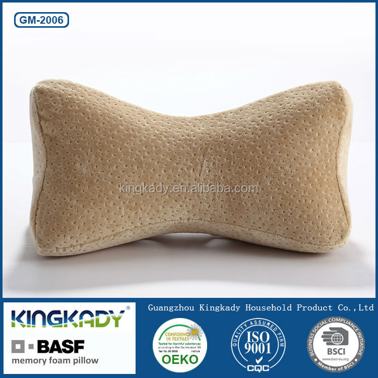 KINGKADY Wholesale BASF Memory Foam Bone Shape Neck Support Car Used Massage Pillow