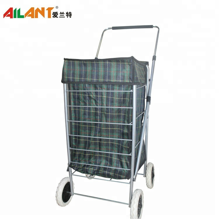 New Large Lightweight Wheeled Shopping Trolley Push Cart Luggage Bag with wheels