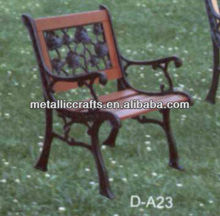Classic Wooden Cast iron Garden Chairs