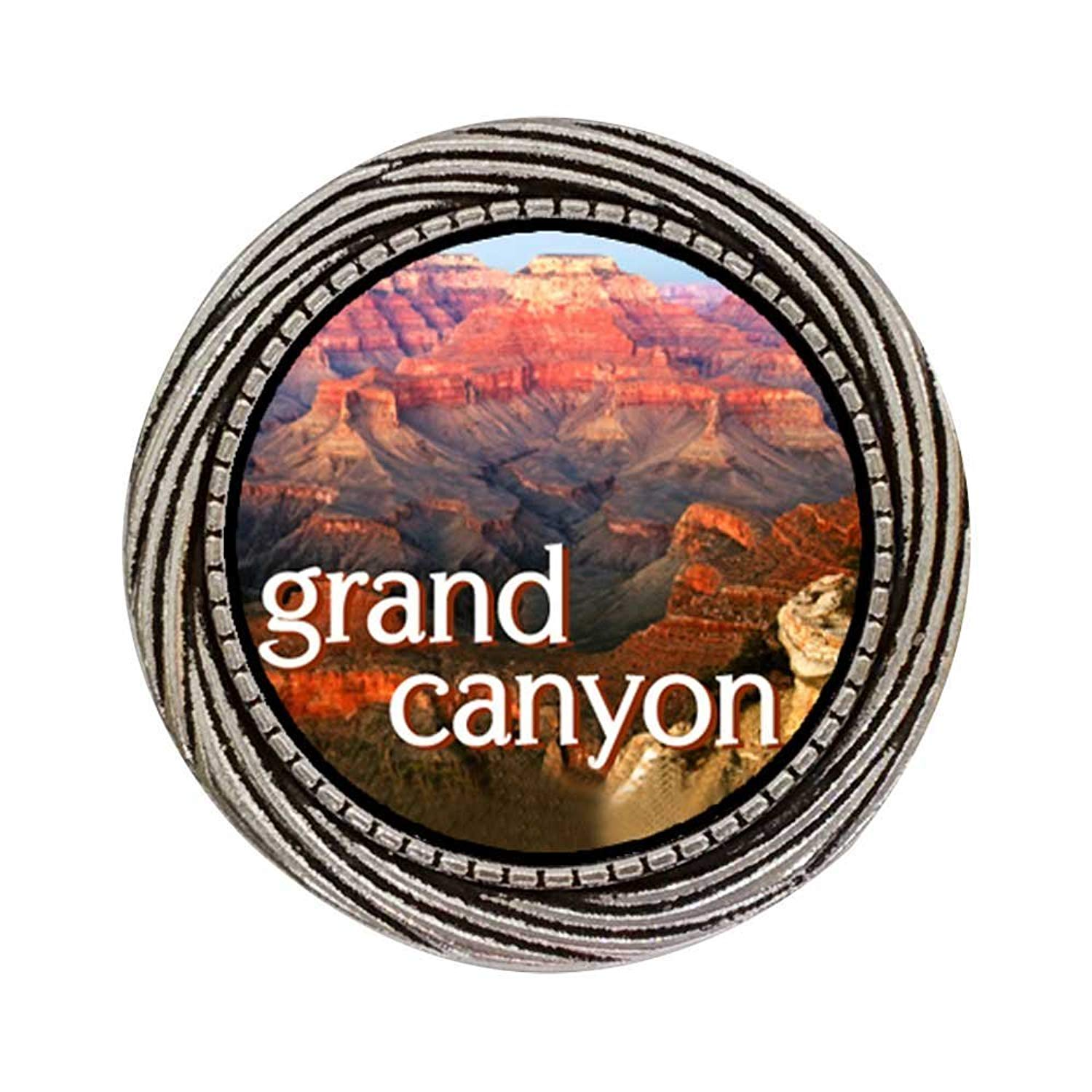 GiftJewelryShop Ancient Style Silver Plate Travel Grand Canyon Winding Pattern Pins Brooch