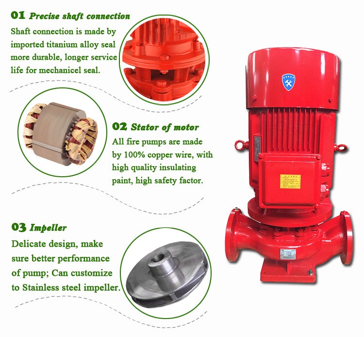 high pressure electric centrifugal fire water pumps for fire fighting & fire hydrant