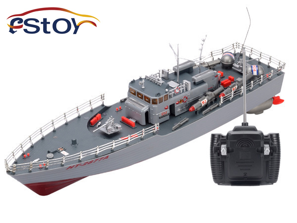 New  1:115 Scale Torpedo Boat Model High Power RC Simulation Guided Missile Destroyer with Led Light Electronic Warship Toys