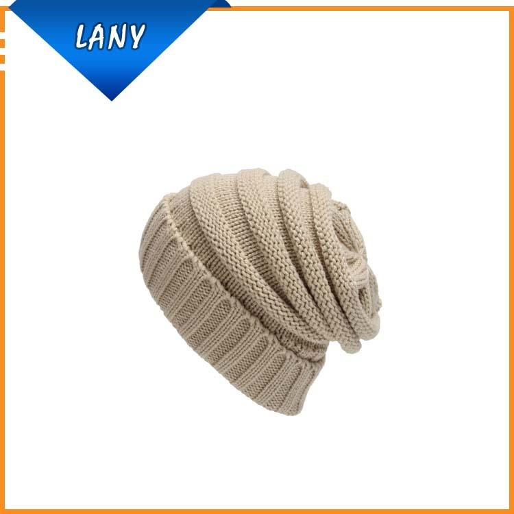 Moda popular 3D bordado invierno Beanie sombrero de punto gorro ...