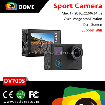 DV700S HD 4K Camera Sport DV Outdoor Aerial Photography Sports Camera with WiFi and Waterproof Case