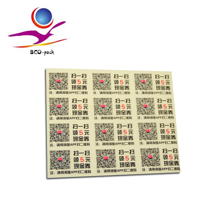 cosmetic luminous label sticker printing