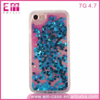 Newest For Iphone 7 Liquid Bling Soft TPU Clear Colorful Case
