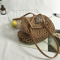 NG0045 Factory price summer ladies Handmade Macrame Tote Shopping net Bag Macrame mesh Bag for women