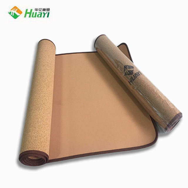Eco-friendly 3-6mm TPE Cork Wood Yoga Mat with Customized Logo