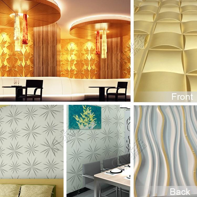 Meilleur prix pvc belle salle de bains panneau mural moderne 3d ...