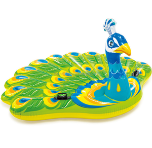 Water equipment float island eco PVC inflatable swimming pool for water park inflatable King size unicorn/peacock floating pool