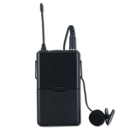2 Channel UHF Headset Lavalier Mic Wireless Microphone System