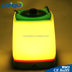 portable USB charger multi Color led camping LANTERN
