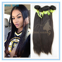 Natural Colors Hair Extensions 100% Unprocessed Remy cheap straight human hair weft