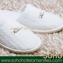100 percent cotton waffle disposable hotel slipper