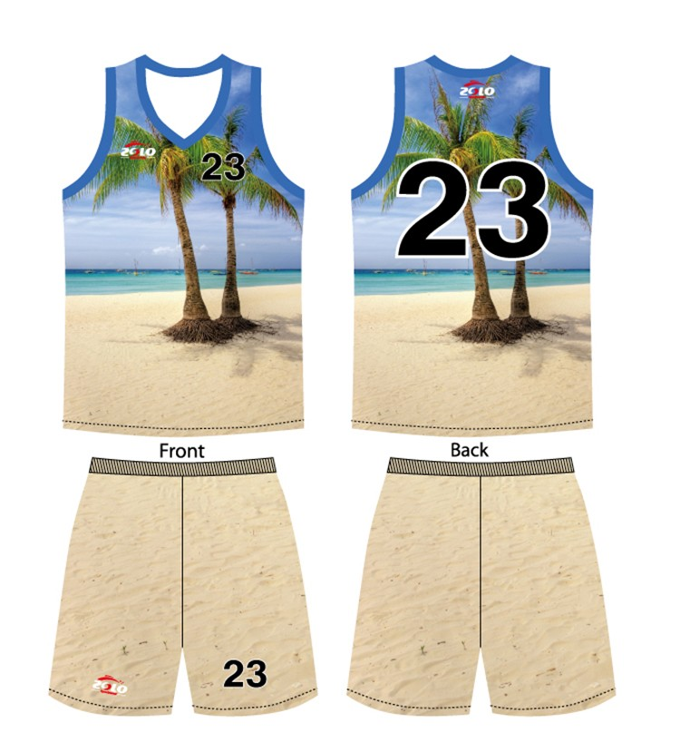 Factory direct supplier customized embroidered basketball uniform