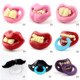2015 New Babypro Wholesale Many Designs Silicone Mustache Funny Pacifier Soothie Adult Pacifier
