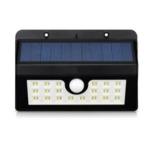Sensor de movimiento solar powered luz, mini luz solar powered led, luz solar
