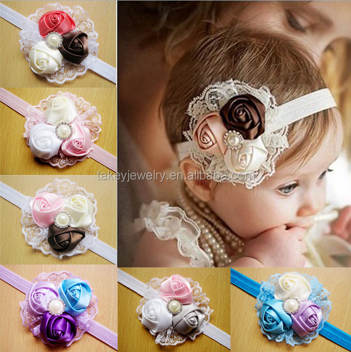Cute Kids Baby Toddler Infant Solid Hair Bows Hair Band Chiffon Bowknot Girls Headband
