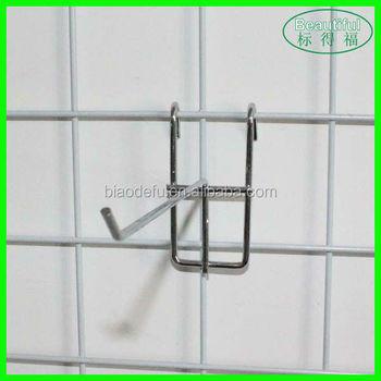 Metal Grid Wall metal wire hook grid wall hanging display hook - buy wire mesh