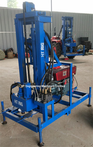 HT Brand CE Certificate Hydraulic Small Portable Water Well Rig Machine For Sale