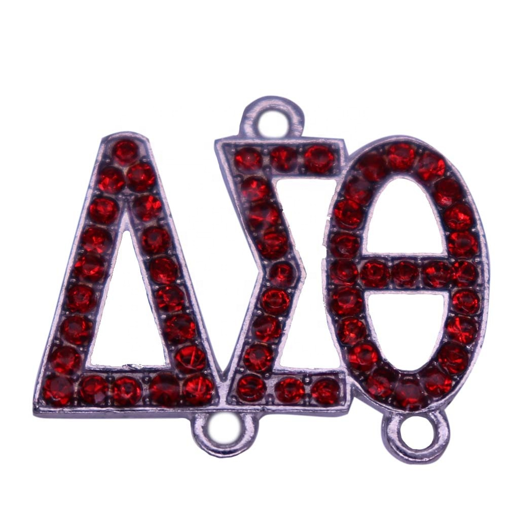 New Arrival Fashion Metal Pearl Greek Letter Sorority DST Sign Delta Sigma Theta Charm Pendant For Pearl Necklaces Making DIY
