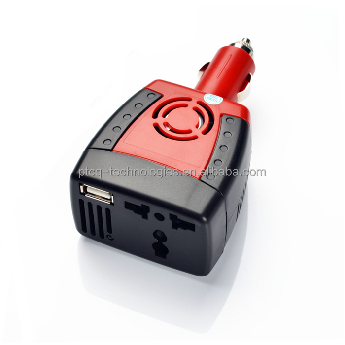 150W <strong>DC</strong> 12V to 110V AC car power inverter with 2A single usb