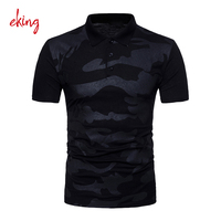 fashion camouflage blank mens polo shirts with customized logo