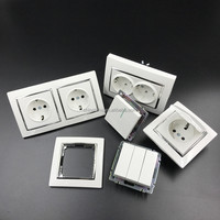 EU standard iran russia germany type electric wall socket and switch
