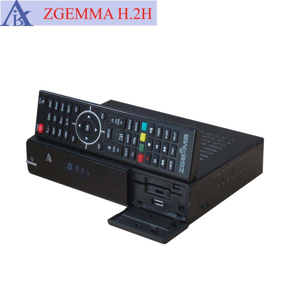 Air Digital Manufactured Zgemma H.2H FTA Satellite Receiver&Media Box High CPU Linux OS E2 With DVB-S2+T2/C Twin Tuners