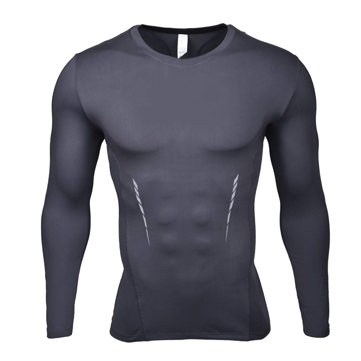 SEVENWELL Men's Dri Fit Compression Shirts Breathable Long Sleeve Gym Slim Fitness Base Layer Tops S-XXL