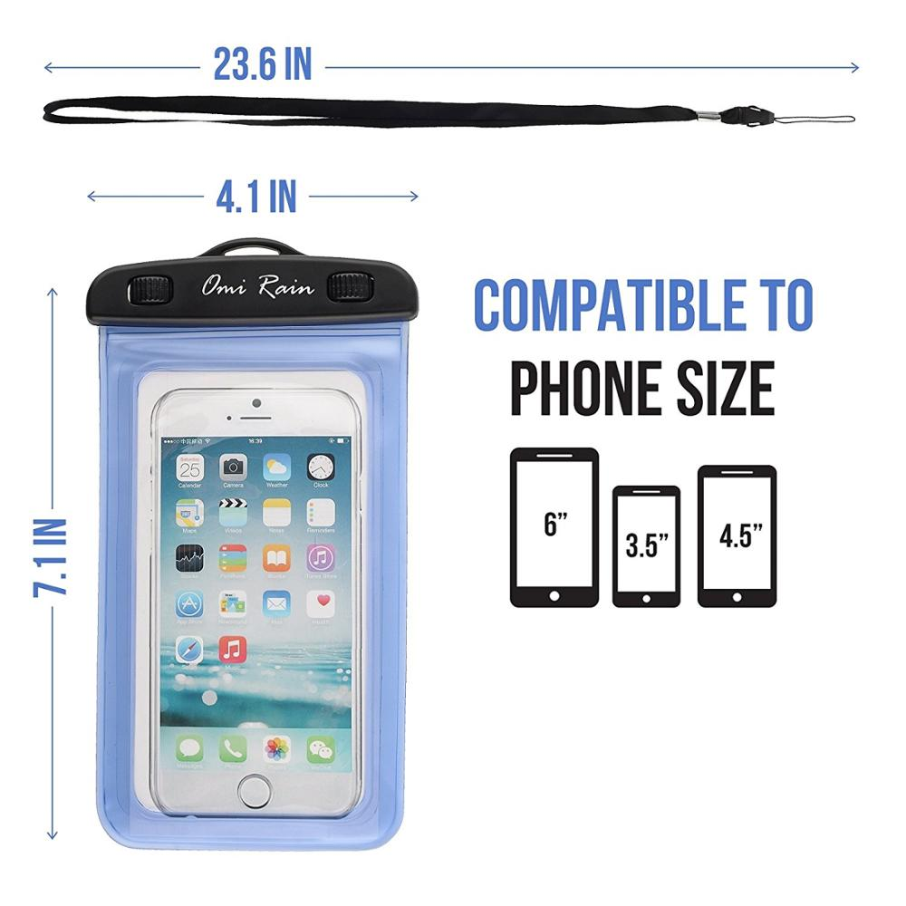Cell Phone Accessories PVC Waterproof Dry Bag with Waist Strap for Phone