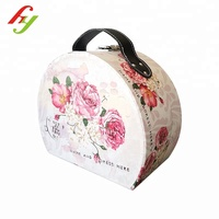 2018 New Design customized wholesale flower gift paper packaging hinged box with handle