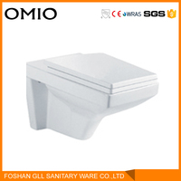 Ceramic bathroom toilet wall hung water closet