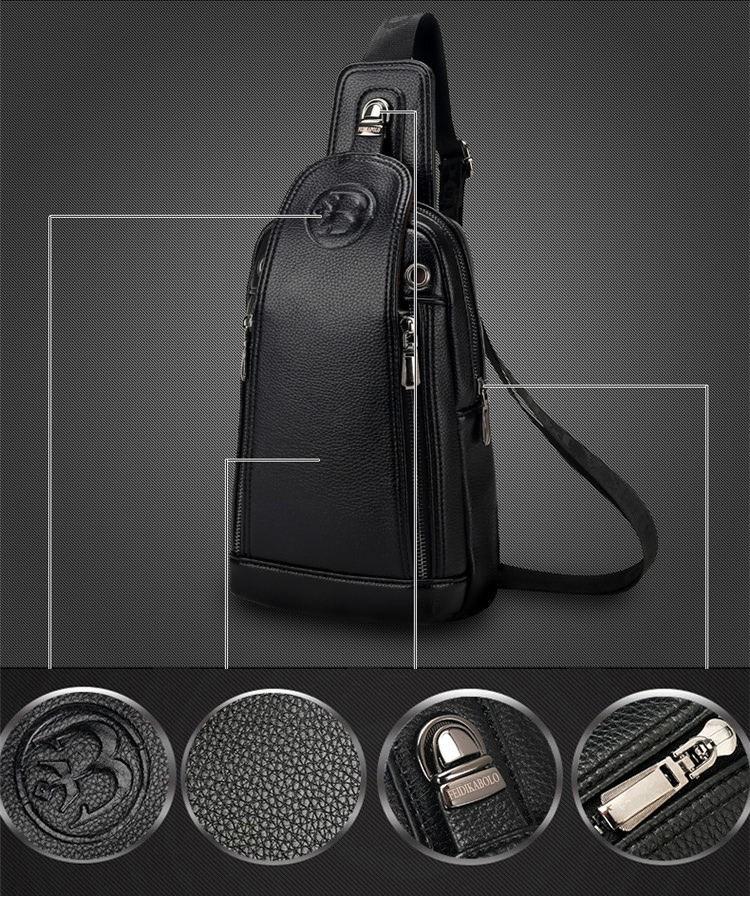 Wholesale FD BOLO Brand Bag Men Chest Pack Single Shoulder Strap ... 18e9ec4777f44
